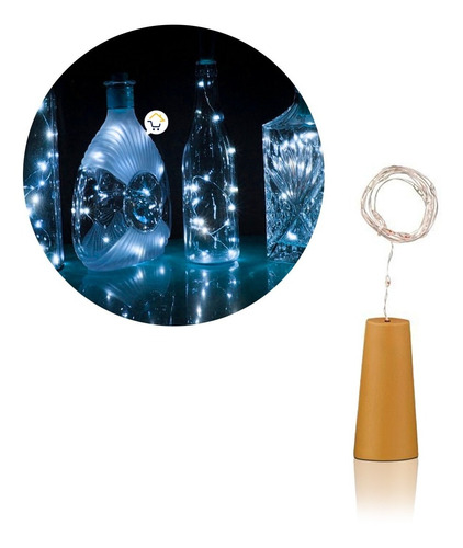 Luz Led Alambre Tipo Corcho Decoración Botellas Rf 42-1