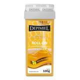 Cera Depilatória Depimiel Clássica Mel Roll-on Refil 100g