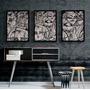 Trio Quadros Decorativos Arte Abstrato Contemporâneo Cd1035 Original