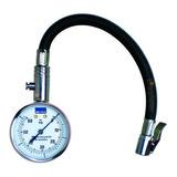 Medidor Control Presión Aire Neumáticos Gomas 60 Libras Con Manguera Retencion Y Desinflado