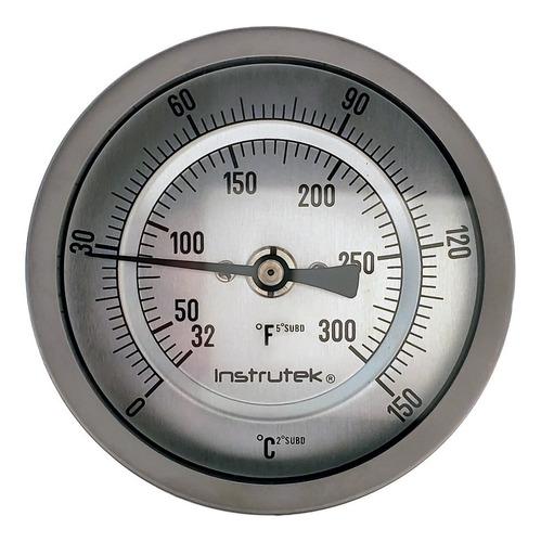 Termómetro Horno 3 PLG 0 A 150°c, Vástago 2.5, Rosca 1/2