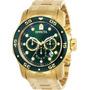 Relógio Invicta Pro Diver 0075 Ouro 18 K  Garantia. Original