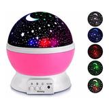 Velador Led Luz Noche Proyector Estrellas Giratorio Usb