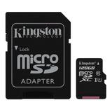 Tarjeta De Memoria Kingston Sdcs Canvas Select Con Adaptador Sd 128gb