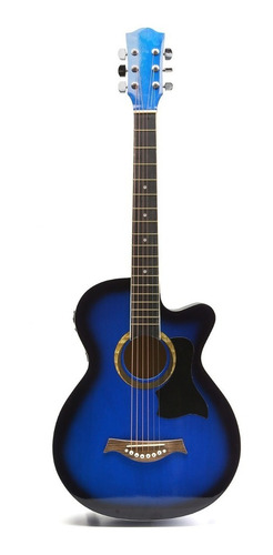 Guitarra Electroacustica Criolla Con Funda 3 Puas De Madera