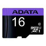Tarjeta De Memoria Adata Ausdh16guicl10-ra1  Premier Con Adaptador Sd 16gb