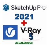 Sketchup Pro 2021 + 30gb De Blocos + Vray Next 5.10