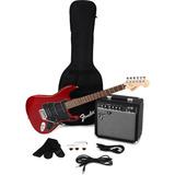 Pack Guitarra Fender Squier Stratocaster Affinity Hss Rojo