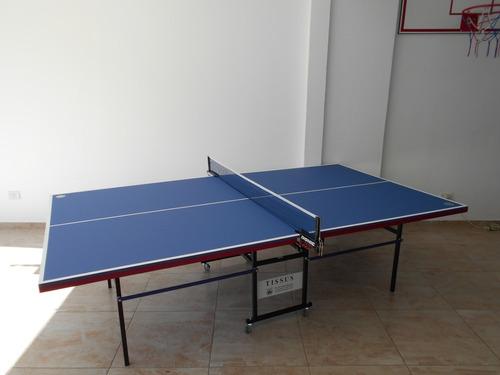 Mesa De Ping Pong Tissus Luxor Con Accesorios De Regalo