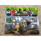 Set X4 Muñecos Minecraft Con Accesorios Artículados Juguetes