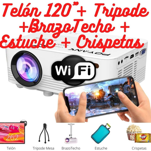 Proyector Videobeam Wifi Combo Full Celular Android iPhone