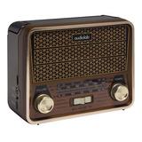 Radio Portatil Mini Retro Audiolab Vintage Usb Sd Mp3