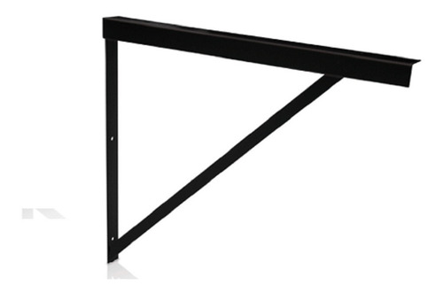 Soporte Reforzado Mensula Hierro Negro Planchuela 40cm