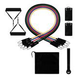 Set 5 Bandas Elásticas Entrenamiento Resistencia +accesorios