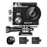 Cámara Deportiva Dragon Touch Action Camera Vision 3 4k Negra