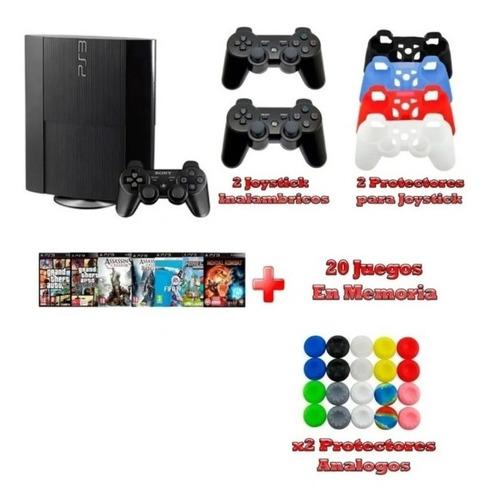 Playstation 3+20juegos+2joystick+regalo