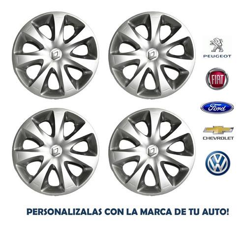 Juego Taza Renault Clio Mio 13 PuLG Logo 2012 2013 2014