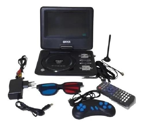 Dvd Portatil 9.8 Digital Tv Digital Com Entradas Usb Sd Av