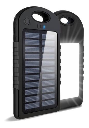 Cargador Power Bank Panel Solar 12000mah Bateria Y Linterna