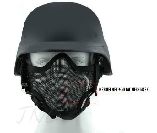 Máscara Y Casco Paintball M88 Airsoft Pasgt Helmet