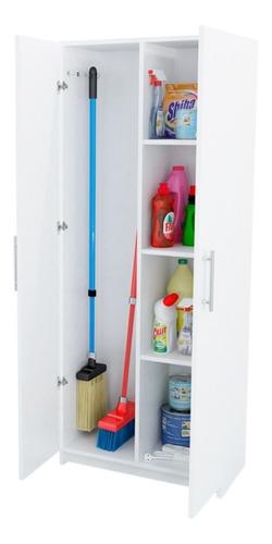 Escobero Despensero 2 Puertas Organizador 150 Cm Blanco
