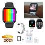 Relógio Smartwatch Iwo14 U77plus Tela Iinita Fazligaç+fone Original