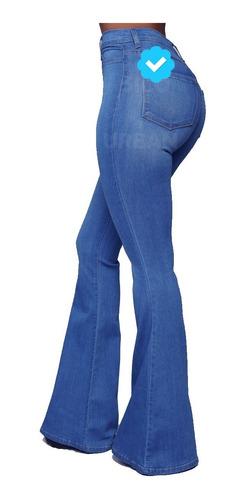Jeans Levanta Cola Oxford Modelador Cintura Talles Grandes