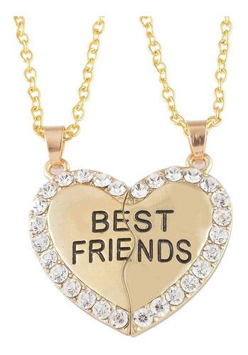 Collar Best Friends - Amistad Mejores Amigas Mejor Corazón