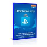 Tarjeta Psn Playstation 10 Usd Saldo Recarga Entrega Rapida