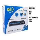 Reproductor Dvd Multiformatos Puerto Usb Top Sonic Super Pre
