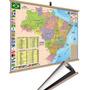 Mapa Brasil  Moldura Banner Laminado Gigante 120x90cm Original