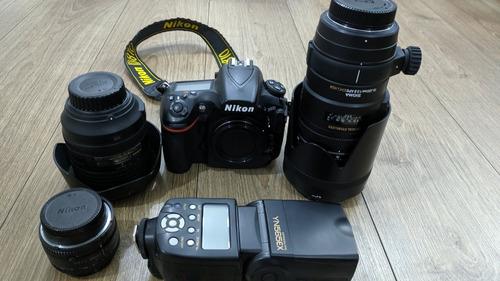 Cámara Nikon D810 + 24-120 + Sigma 70-200 + 50mm + Flash