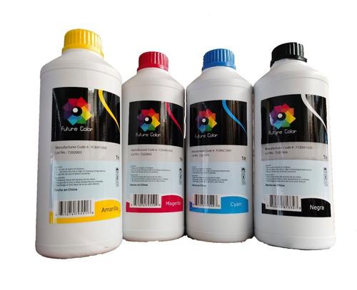 Pack 4 Pzs Tinta Universal Todas Impresoras De Inyección