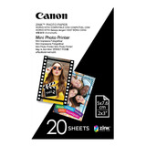 20 Papeles Para Cámaras Zoemini Y Mini Impresoras Canon