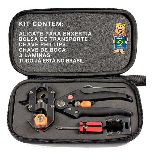 Kit Tesoura Alicate Enxertia Poda Enxerto - Com Bag - No Br