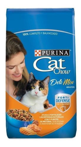 Alimento Cat Chow Defense Plus Delimix Para Gato Adulto Sabor Mix En Bolsa De 8kg
