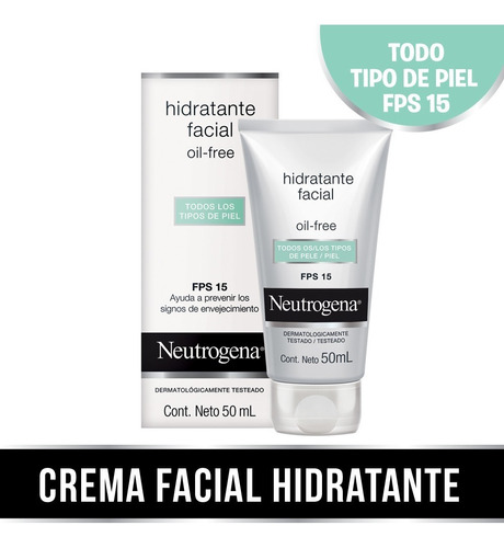 Hidratante Facial Neutrogena® Oil Free Fps 15 X 50 Ml.