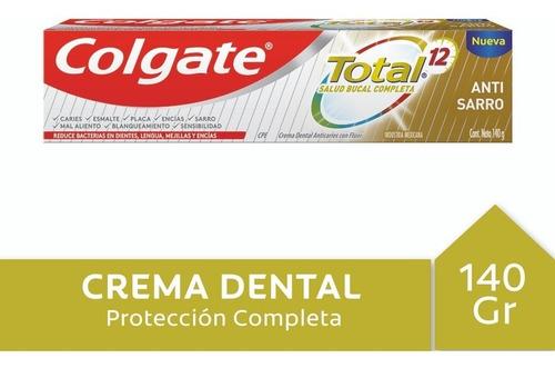 Crema Dental Colgate Total 12 Anti Sarro 140g