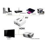 Convertidor / Adaptador De Rca A Hdmi Video Hd 720-1080