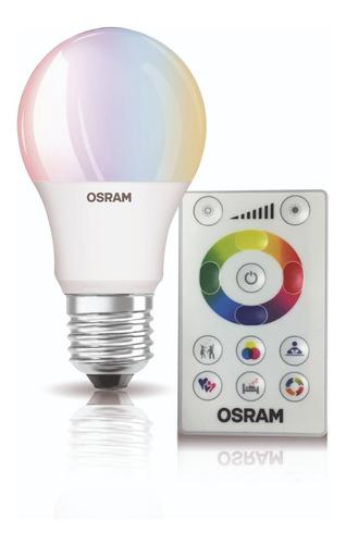 Lámpara Led Osram Rgbw Dimm C/ctrol Remoto X 3 Unidades E27