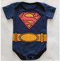 Kit 3 Body Super Heróis Desenhos Vingadores Bebê Fantasia Original