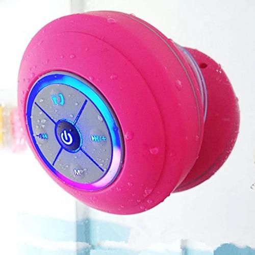 Parlante Bluetooth Ducha Waterproof Inalámbrico Con Luz Led