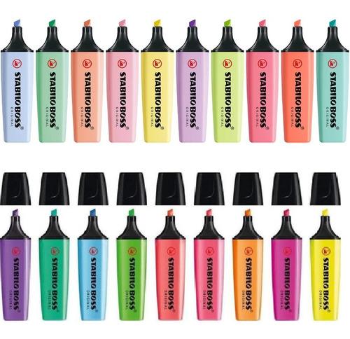 Coleccion Marcatextos Stabilo Boss Pastel Y Neon 19pzs