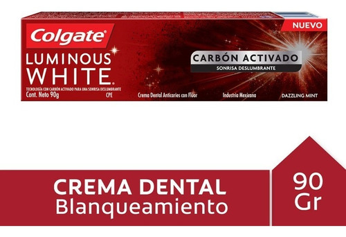 Crema Dental Colgate Luminous White Charcoal 90gr