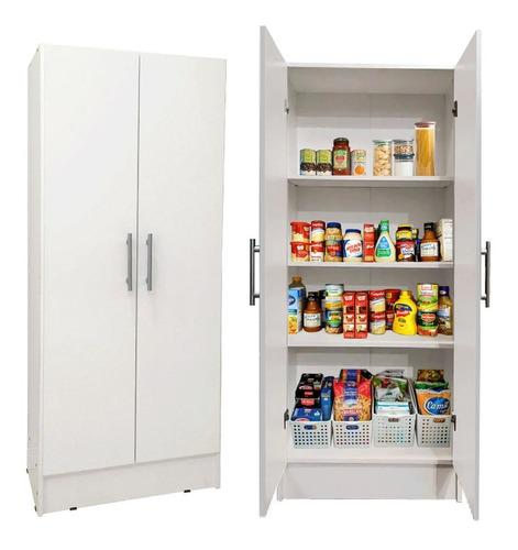 Despensero Cocina 2 Puertas 150 Organizador Fondo Blanco &