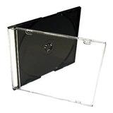 Caja Acrilica Slim Para Cd Tray Negro X10 Unidades