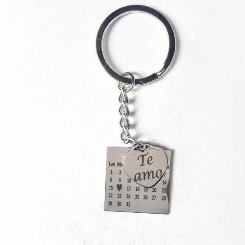 Calendario Llavero Medalla Personalizado Con Tu Fecha