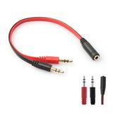 Adaptador Splitter Mini Plug Aux 3.5 A Microfono Auricular