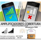 Kit Antena Repetidor Señal Celular 75db 3g Rural Urbana Gain