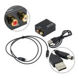 Convertidor Audio Digital Optico A Analogico Rca